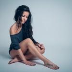 Noelle Unterwäsche lange Haare Shooting