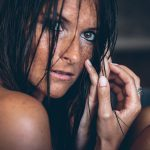Carina Sommersprossen nasse Haare Shooting 2